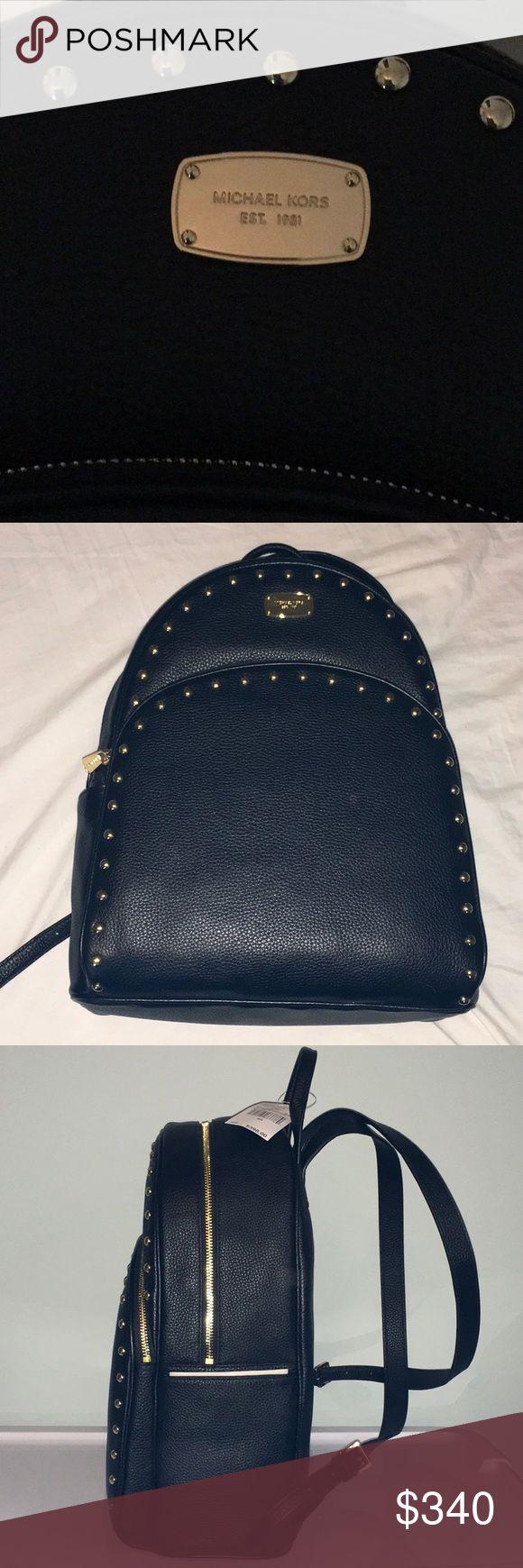 BRAND NEW MICHAEL KOHRS LEATHER BACKPACK *****BRAND NEW***** Michael Kohrs Black Leather Gold Studded  Backpack Michael Kors Bags Shoulder Bags