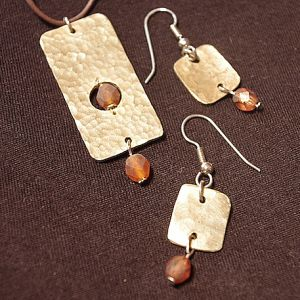 Natural Woman Pendant and Earrings