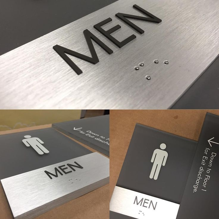 Men's restroom sign, ADA compliant interior sign for LaFrontera. #MenRestroom…