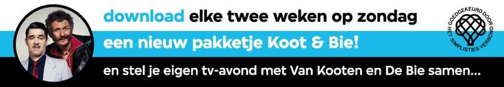 Pakketjes Koot & Bie - Kees van Kooten en Wim de Bie zijn weer terug. - Niet alleen op de zondagavond (hun historisch vertrouwde tv-stek), maar op alle dagen van de week.Niet op de ouderwetse beeldbuis, of in een dvd-box, maar op uw Android smartphone, pc, Mac of iPad.