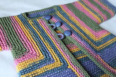 Elizabeth Zimmermann's Baby Surprise Jacket. One of these days I want to knit this.