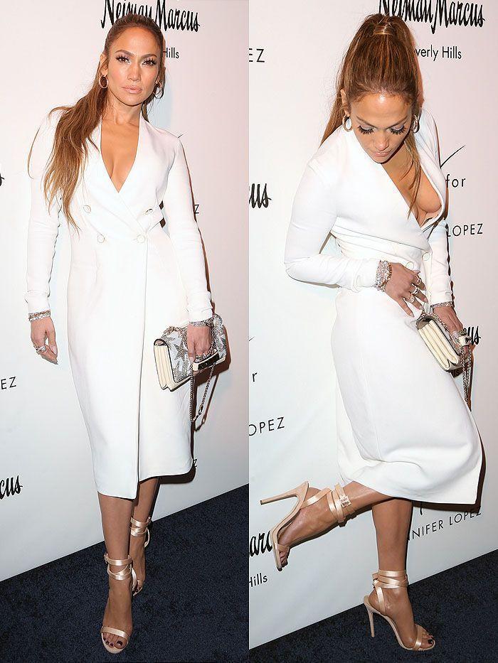 Jennifer Lopez Suffered An Awkward Wardrobe Malfunction While Dancing In A High-Slit Dress - Hot