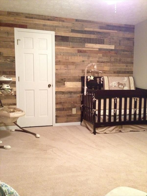 17 best images about wood pallet wall pictures on pinterest fireplaces reclaimed wood walls. Black Bedroom Furniture Sets. Home Design Ideas