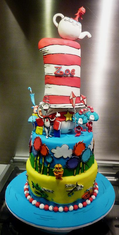 17 Best Images About Cake Design For Dr Seuss Cake On