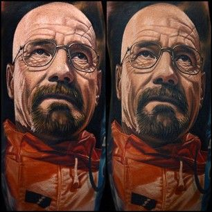 Walter White. | 15 Fabulous Tattoos By Nikko Hurtado