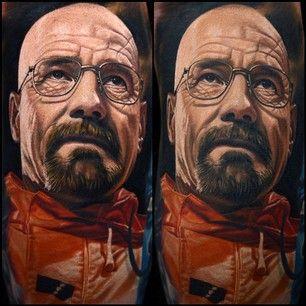 Walter White.   15 Fabulous Tattoos By Nikko Hurtado
