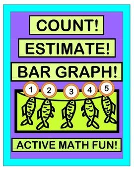 Play a COUNTING, ESTIMATING, and BAR GRAPHING GROUP GAME!  Add a FISH CRAFT and an easy SONG with a strong rhythm pattern.  Fish Templates and Bar Graph Template are included.  MULTI-SENSORY MATH!  (9 pages)  From Joyful Noises Express TpT!  $