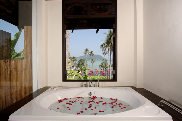 Is there seriously a more relaxing looking bath? The Vijitt Resort Phuket, Thailand  www.islandescapes.com.au