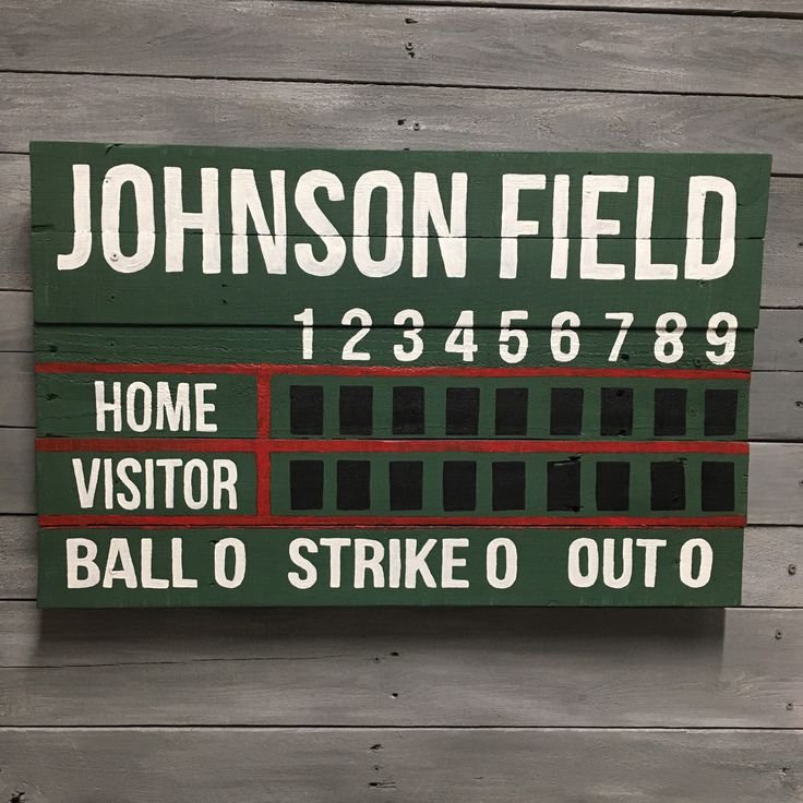 These scoreboards make awesome decorations for birthdays, baseball-themed weddings and home decor!