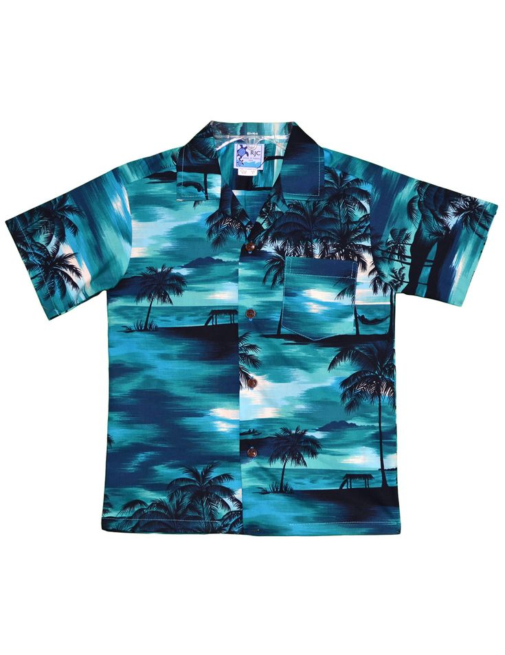 Shop from Hawaii  Boys Hawaiian Shirt Island Sunset at Shaka Time Hawaii Clothing Store