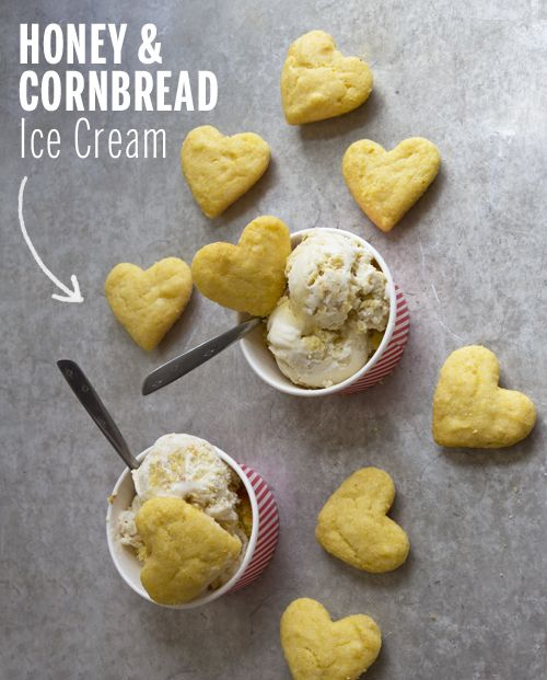 Honey & Cornbread Ice Cream // take a megabite
