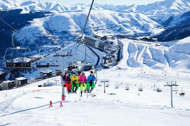 Esquí en Saint Lary Soulan. Hautes Pyrenees. Francia