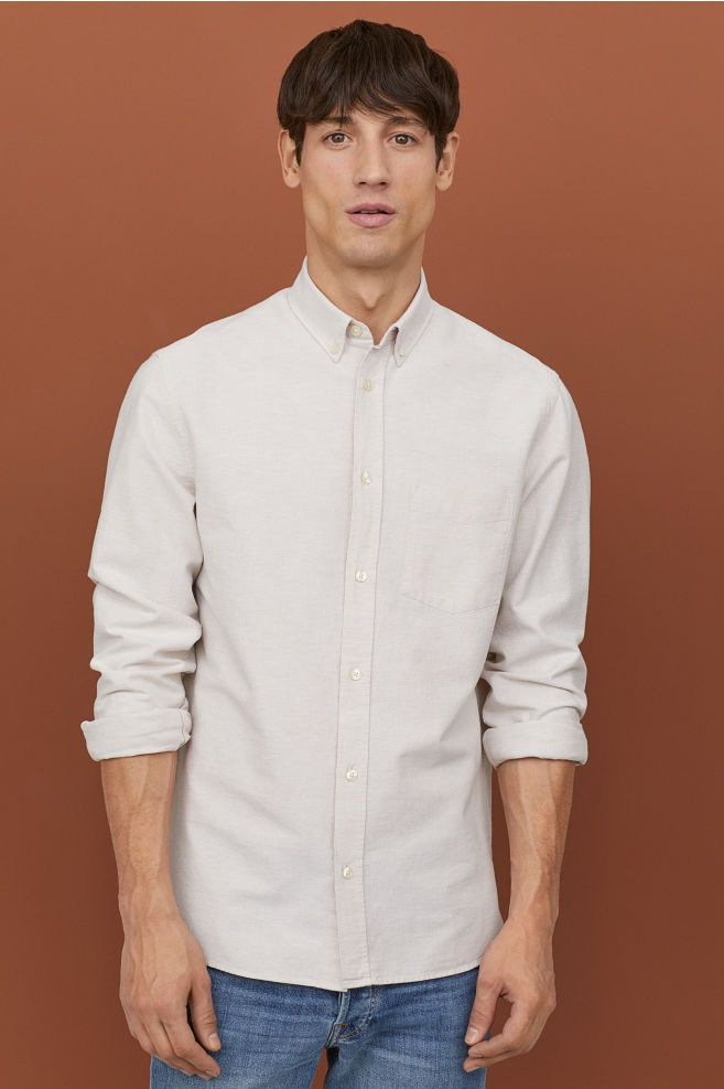 11c40108e38 H&M Regular Fit Oxford Shirt - White in 2019 | c l i e n t | Mens ...