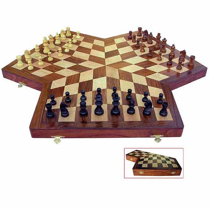 Above: 3-Way Wooden Chess Set >> http://www.designsoak.com/10-unusual-chess-sets/