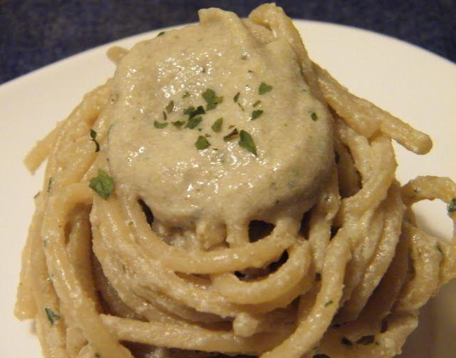 C'era una volta: Spaghetti integrali con crema di tofu e funghi
