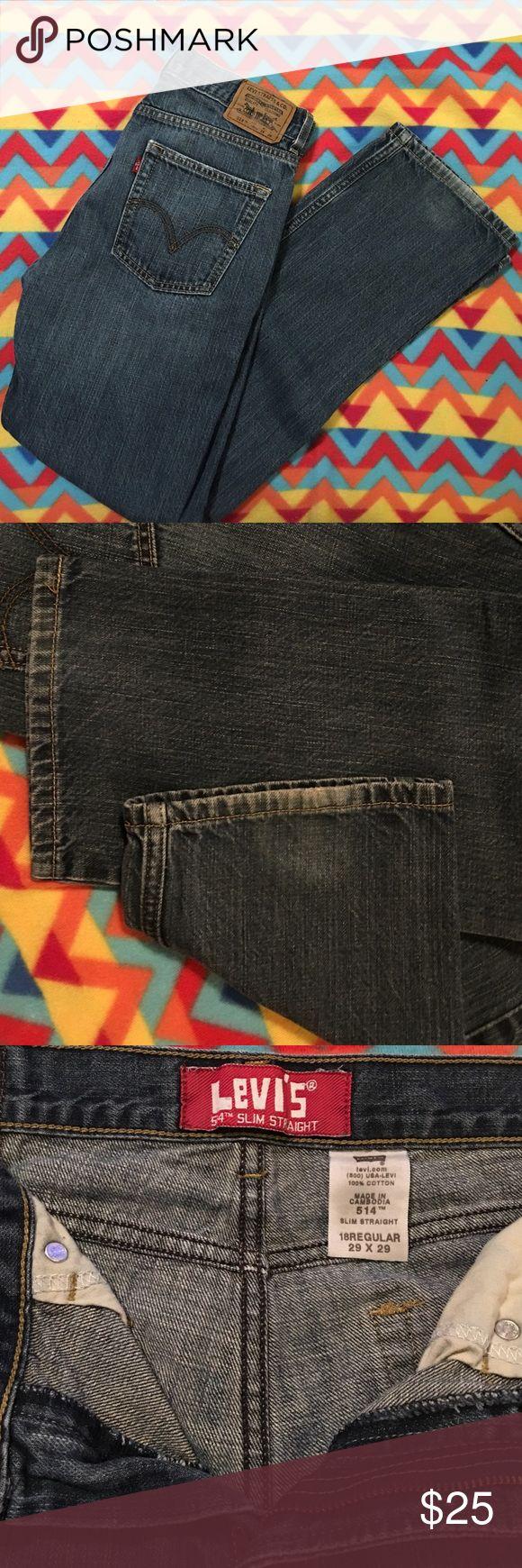 Men's Levi 514 jeans size 29x29 Like new men's Levi 514 jeans. Size 29x29 or Size 18 Levi's Jeans Slim Straight