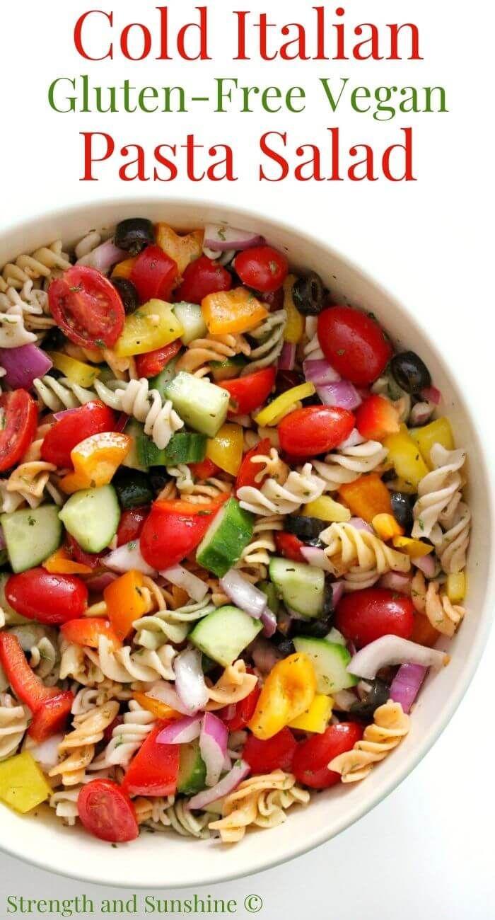 Cold Italian Pasta Salad Gluten Free Vegan Allergy Free Recipe In 2020 Cold Italian Pasta Salad Classic Pasta Salad Pasta Salad
