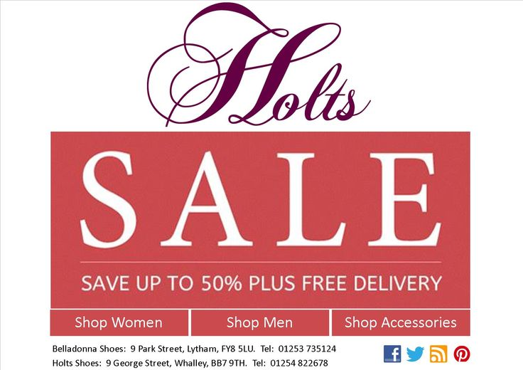 Holts Shoe Sale Final Reductions - 50% Off