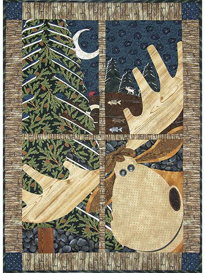 This will bring on a smile! NorthWoods Window Pane Quilt Pattern