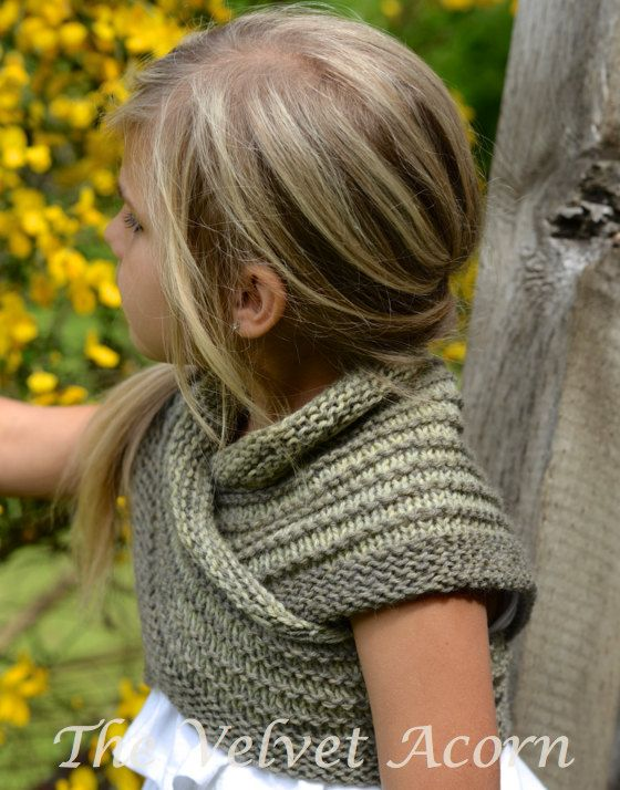 Bramble el patrón tejer chal pequeño y grande por Thevelvetacorn