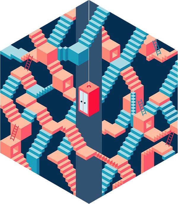 Wall Street English - Get a lift by Luca Frank Guarini, via Behance