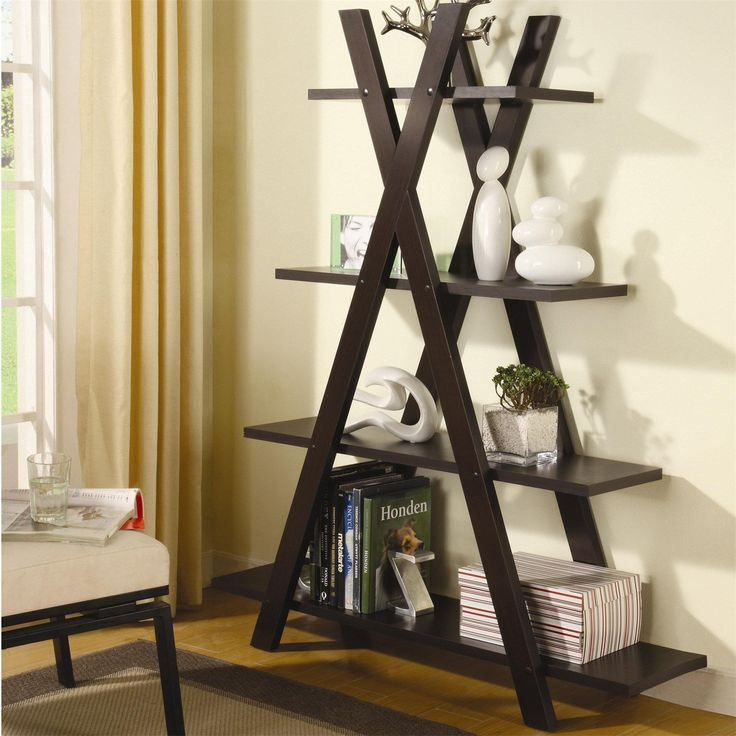 "Coaster Furniture 800267 ""X"" Bookcase in Cappuccino"