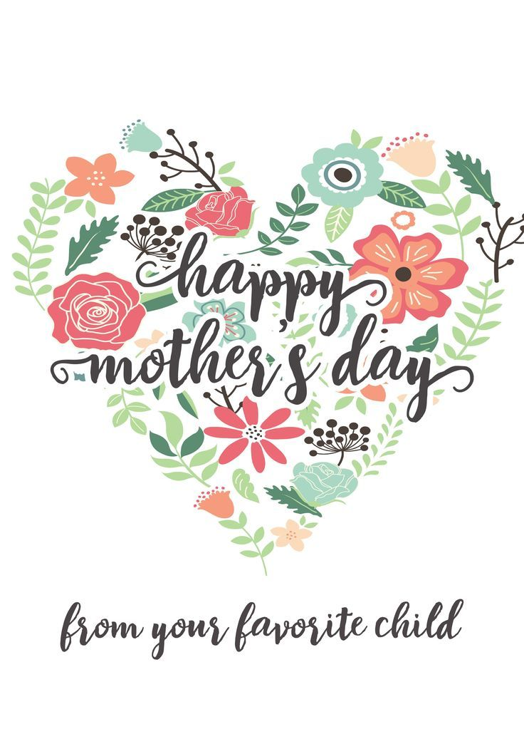 Happy Mothers Day Messages Free Printable Mothers Day Cards For Kids and Moms Ha...