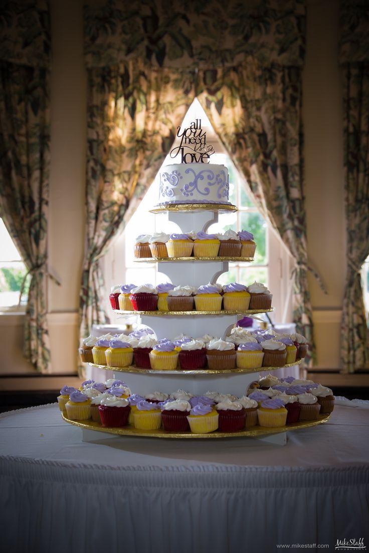 Lavender frosting cupcake tower  #wedding #cake #Michiganwedding #Chicagowedding #MikeStaffProductions #wedding #reception #weddingphotography #weddingdj #weddingvideography #wedding #photos #wedding #pictures #ideas #planning #DJ #photography