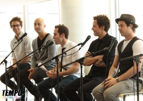 Simple Plan. These guys make me smile all day long, especially Pierre. :)