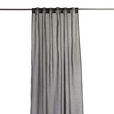 vorhang mit 7 verdeckten schlaufen polyester dunkelgrau ca. Black Bedroom Furniture Sets. Home Design Ideas