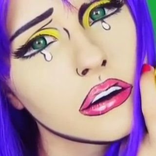 DIY This Comic-Book Makeup For Halloween in 6 Minutes