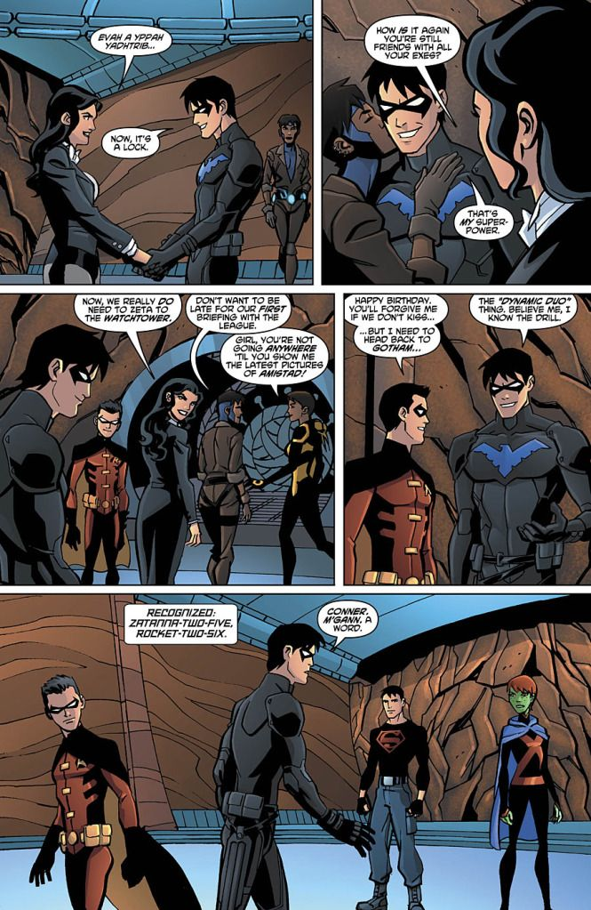Nightwing's superpower. Hahahaha. I LOVEEE the Young Justice Nightwing I could die. <3