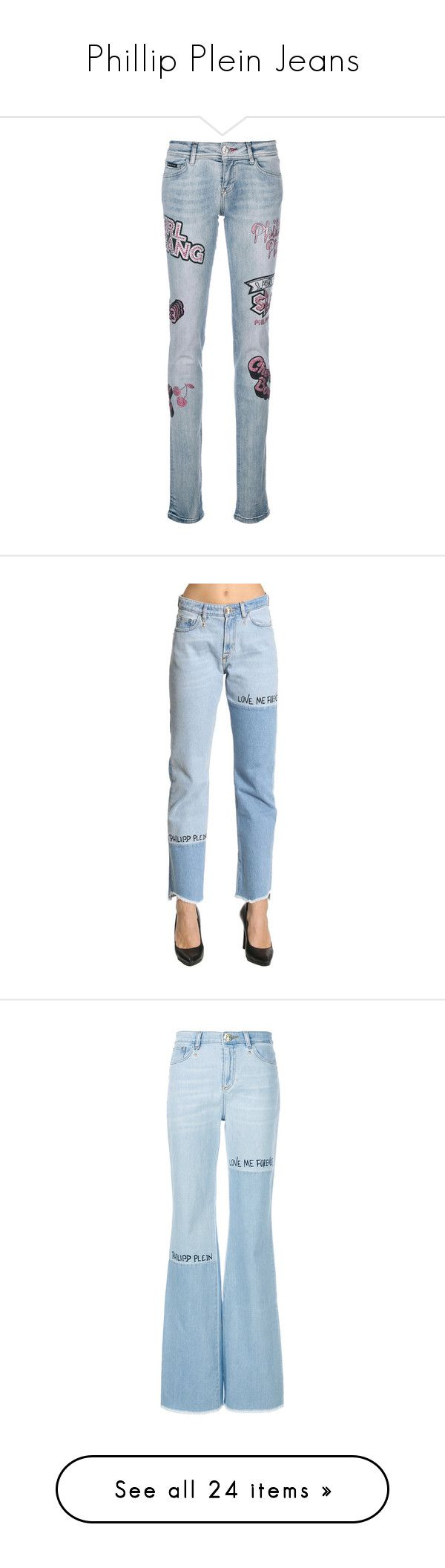 """Phillip Plein Jeans"" by willa-vanilla ❤ liked on Polyvore featuring jeans, blue, blue jeans, zip fly jeans, low rise jeans, long length jeans, philipp plein, stone washed, stone washed jeans and stonewash jeans"