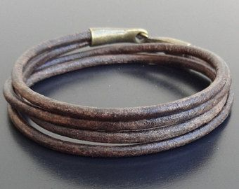 Leather Cuff bracelet Mens Leather Bracelet Men's