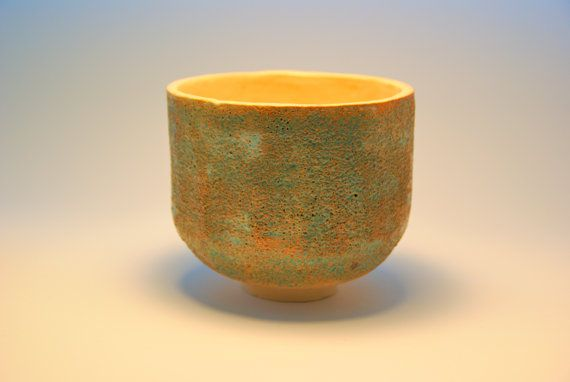 Turquoise pot by ZebraDsgn on Etsy