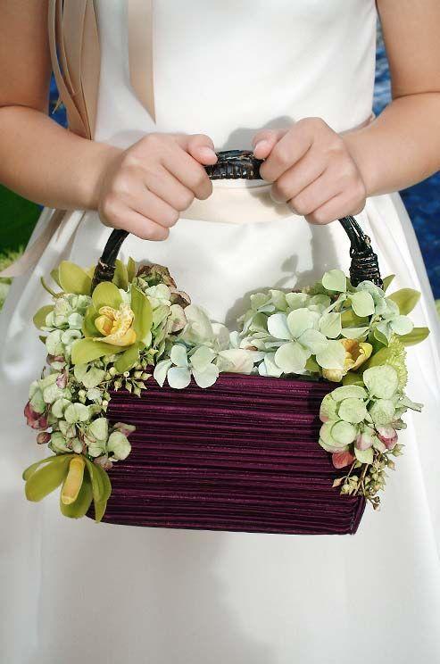 Flower Girl Baskets Green : Best images about basket decoration on