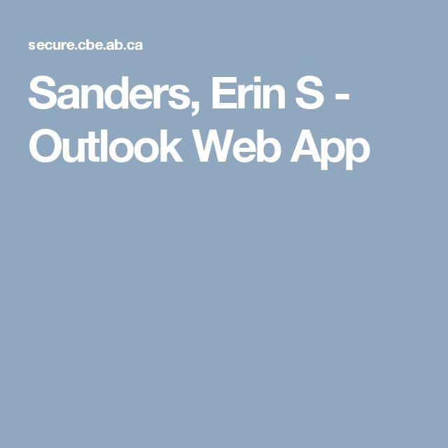 Sanders, Erin S - Outlook Web App