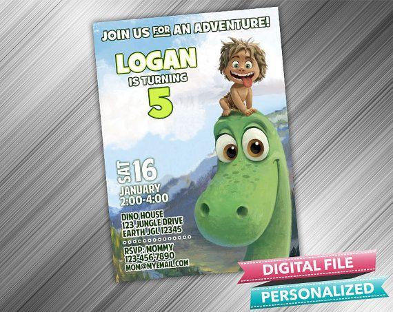 Arlo & Spot Birthday Invitation  Good Dinosaur by kidspartydiy