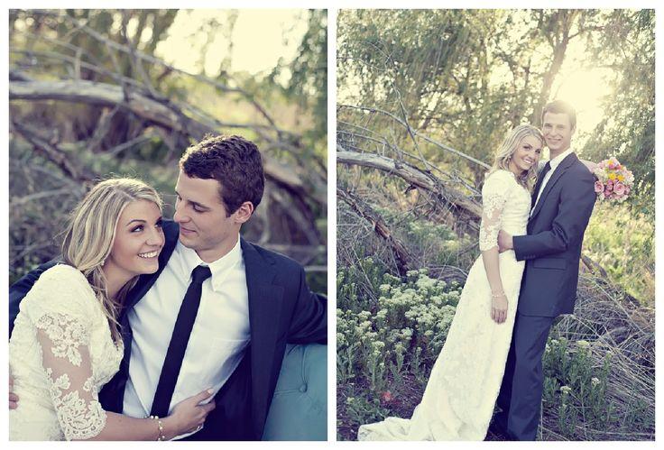 vintage rustic wedding bride and groom