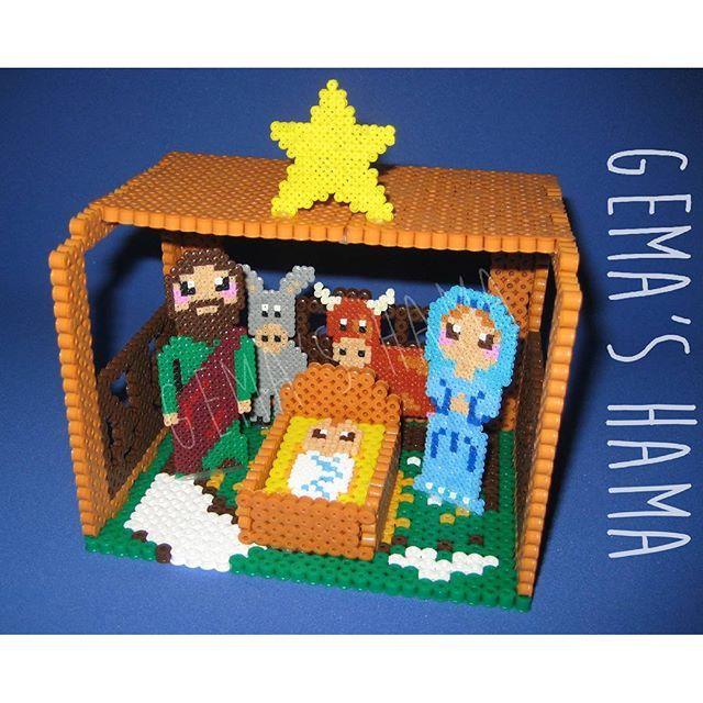 3D Nativity - Christmas hama beads by gemashama