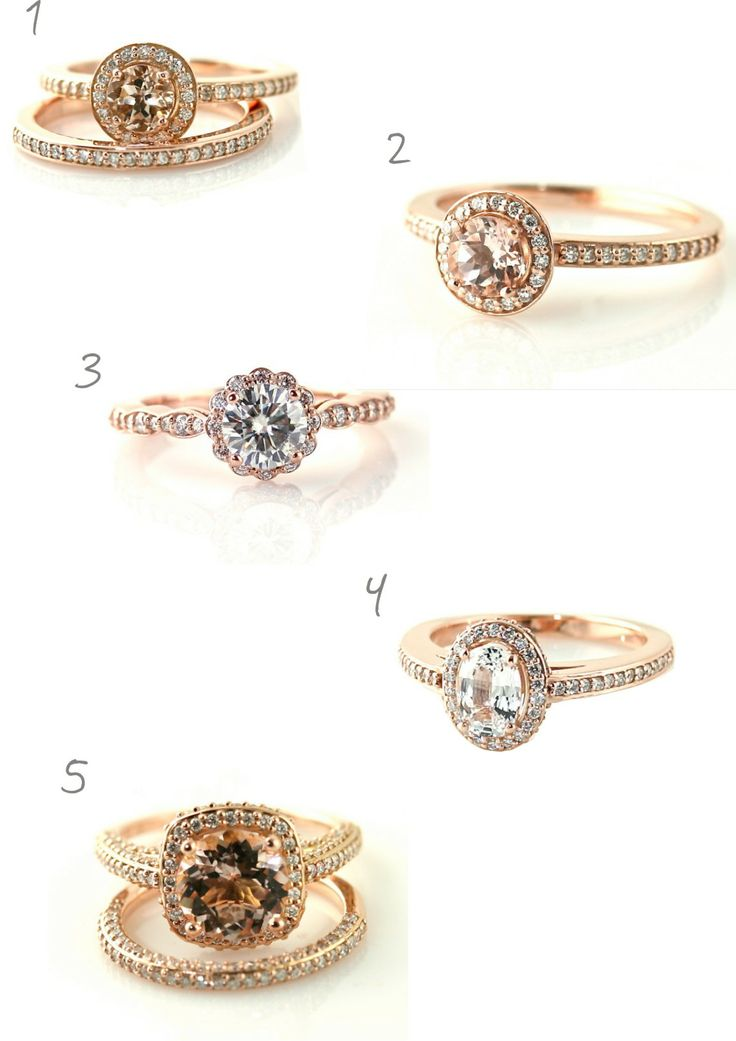 anel de noivado com pedra de morganita! Lindo! nº2