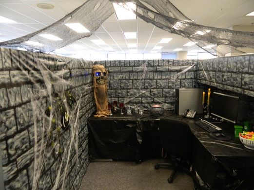 Decorating Ideas > Dungeon  Halloween  Office Cube Decorations  Pinterest  ~ 065959_Halloween Decoration Ideas Office