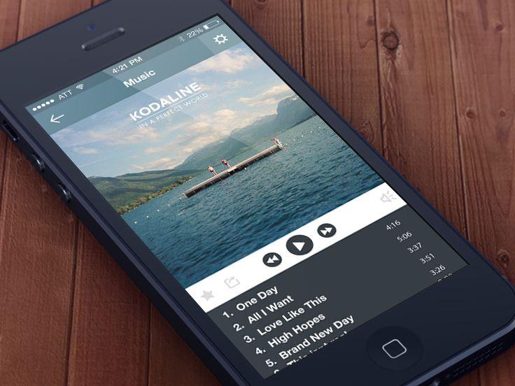 iOS7 Music App by Karl O'Brien