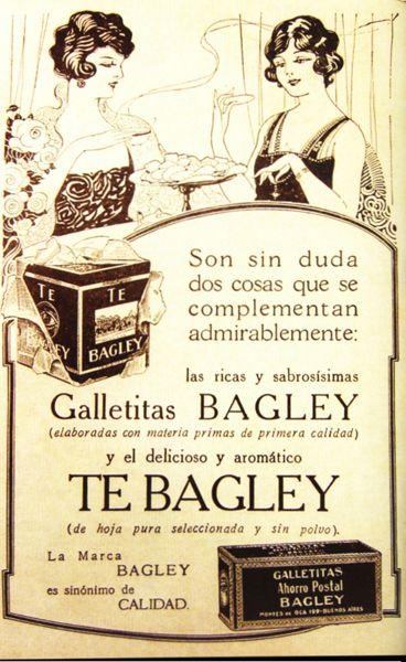 Antigua publicidad de productos Bagley.