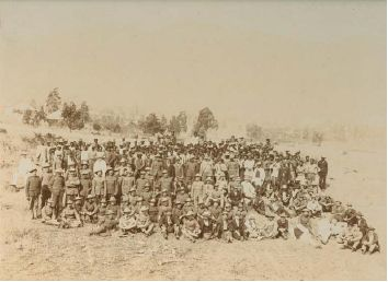 Barberton Concentration Camp - Burghers and officers