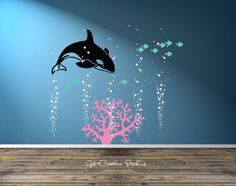 Image result for whale stickers for wall decor