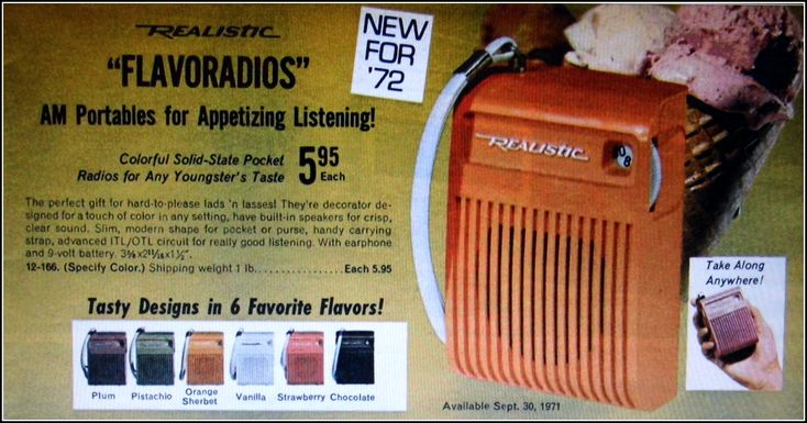 All sizes | Vintage Advertising For The Realistic Solid State AM Flavoradio In The 1972 Radio Shack Catalog | Flickr - Photo Sharing!