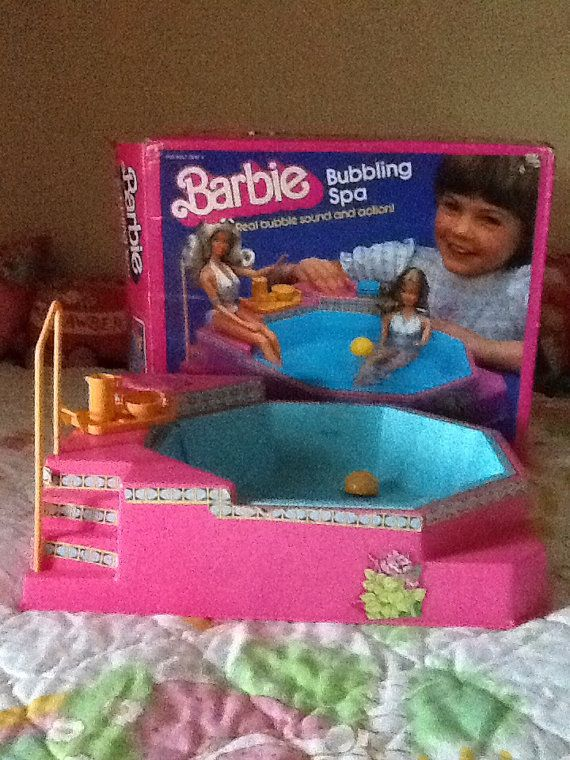 80s Barbie Bubbling Spa in Box w/ Accessories by OgreberryCottage, $12.00 - LOVED this when I was little