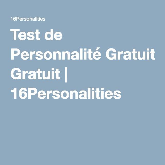 Test de Personnalité Gratuit | 16Personalities