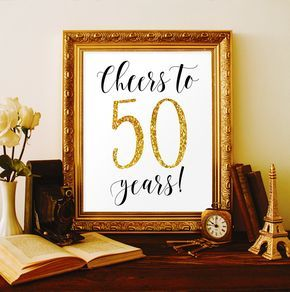 Cheers to 50 years 50th birthday party decorations for men 50th birthday for women 50th anniversary ideas 50 birthday banner 50 anniversary by ViolaMirabilisPrints on Etsy